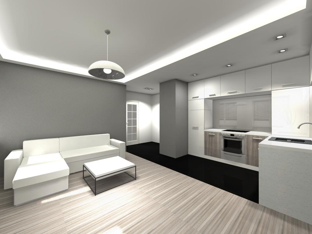 Asymetria  projektowanie wnętrz, architektura wnętrz, aranżacja wnętrz  Jad   -> Kuchnia Z Salonem Projekt