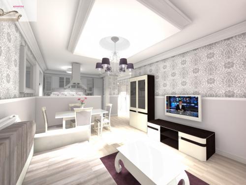 Salon z aneksem kuchennym aranzacje
